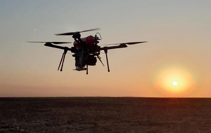 dron alimentado por célula de hidrógeno